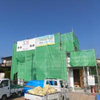 田布施町の新築現場