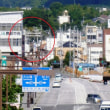 バンビオの歩道橋から天満宮の鳥居は見えるの?