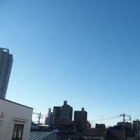 今朝(2月13日)の東京のお天気:晴れ、(2月の作品:祈りの像)