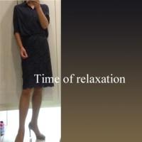 UNIQLOシルクネイビーシャツでトリコロールコーデ☆彡=次女と過ごす最後の母の日は=【休日編】