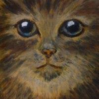 オイルパステル猫2