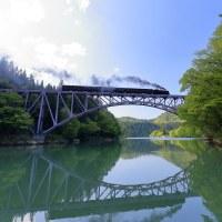 一橋を見上げる(只見C11試)