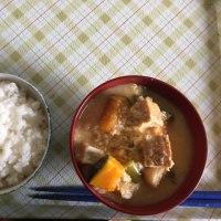 今日の朝飯です