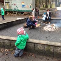 パンが焼ける公園