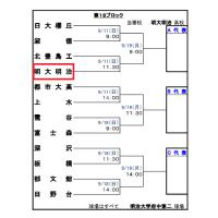 2016年 東京都秋季大会予選ブロック 日程変更