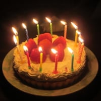 1日遅れの「誕生ケーキ」!