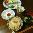 火を使わず簡単に!炊き込みご飯とシメサバ^0^