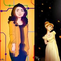 ブロードウェイの女性ミュージカル・キャラクターの絵