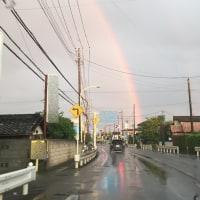 明日はきっといい日になると思えた虹でした!