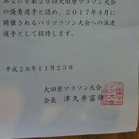 パリマラソン派遣決定 第29回大田原マラソン結果報告
