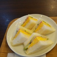 厚焼き玉子サンド~🎵
