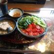 お昼ご飯は三輪太麺とサバ水煮缶で