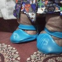 メイちゃんの お靴ができました