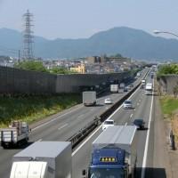 町中の風景~西名阪と二上山