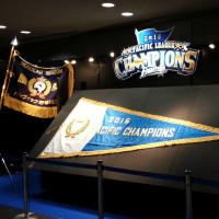 ファイターズ、2016年パ・リーグ優勝の優勝旗を札幌ドームで展示中!
