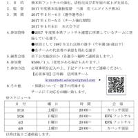 2017フットサル熊本フットサル選抜☆