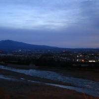161231頃 日の出 赤城山早朝夜景習作
