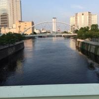 目黒川河口に来ました。