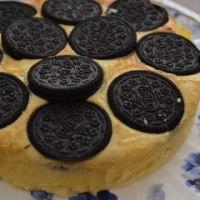 バレンタインにバニラ香るオレオのチーズケーキ♪