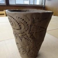 久々の陶芸でランプシェード作り