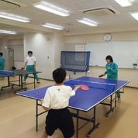 卓球部、今日は学校で練習です!