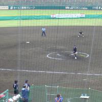 上野投手の球は本当に速かった。