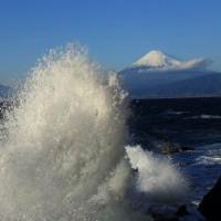 富士山 今冬最初の波追い...  60分間の波酔い