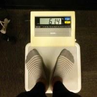 今日の体重 61.4㎏ コバラサポート