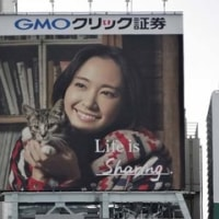 11月26日(土)のつぶやき:新垣結衣 GMOクリック証券 Life is Sharing.(新宿駅前ビルボード)