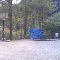 バスケットゴールがあるキャンプ場を発見!