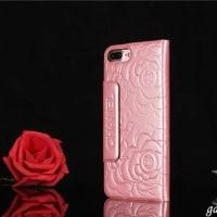 高品質シャネルCHANELツバキ柄iphone7/plusレザーケース 超薄型