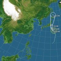 明日は台風関東上陸かな?