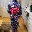 母娘様浴衣レッスン(お嬢様)地元のお祭りに浴衣を着ていきました!画像が届きました!!!