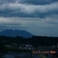 10月15日、朝の桜島