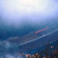 霧間のローカル列車