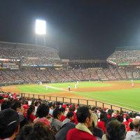 マツダスタジアムで野球観戦 カープ 4-5 ジャイアンツ
