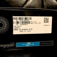 カンパニョーロ5アームの52T-36Tの入手は難しそうなので、12T-27Tスプロケット購入