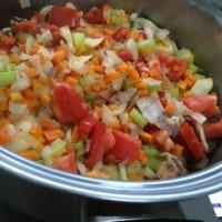 緑レンズ豆の野菜たっぷりシチュー