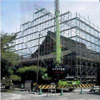 曼荼羅寺聖堂ひわだぶき工事
