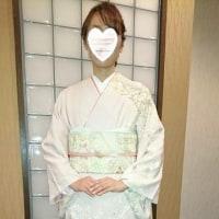 29.4.9出張着付は富田林市、入学式に行かれる訪問着の着付&へセットでした。