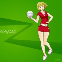 女子バレーボール部のイラスト