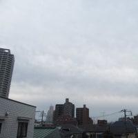 今朝(1月19日)の東京のお天気:曇り、(1月の作品:祈願の坐像)