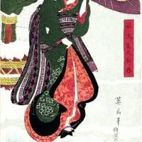 雪中美女  菊川英山