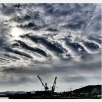 平成28年10月21日(金)午前9時11分の東の空<三原川河口左岸堤防から>