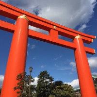 京都マラソンの青空