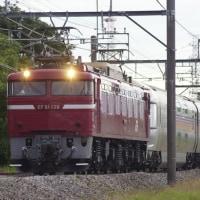 EF81-139号機牽引 カシオペア回送列車。