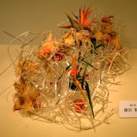 龍生派  藤田 彰風さんの作品・・・・いけばな協会展