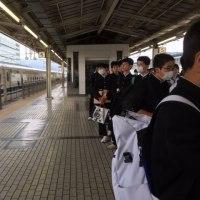 修学旅行 三島駅到着