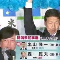 新潟知事選 米山隆一氏が当選!