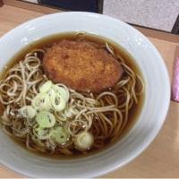 みんな大好き コロッケ蕎麦 (´▽`)